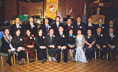 CCBA 6th Annual Director Innauguration Dinner Party - after directors sworn into office supervised by Ms. M. Sophia Leung M.P. (Front, 5th from the right) and Honorary President Mr. On-Tak Cheung.
